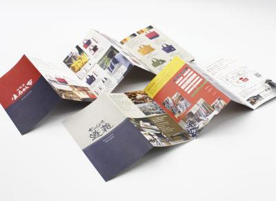 鞄ブランド出石帆布と体験工房のパンフレット